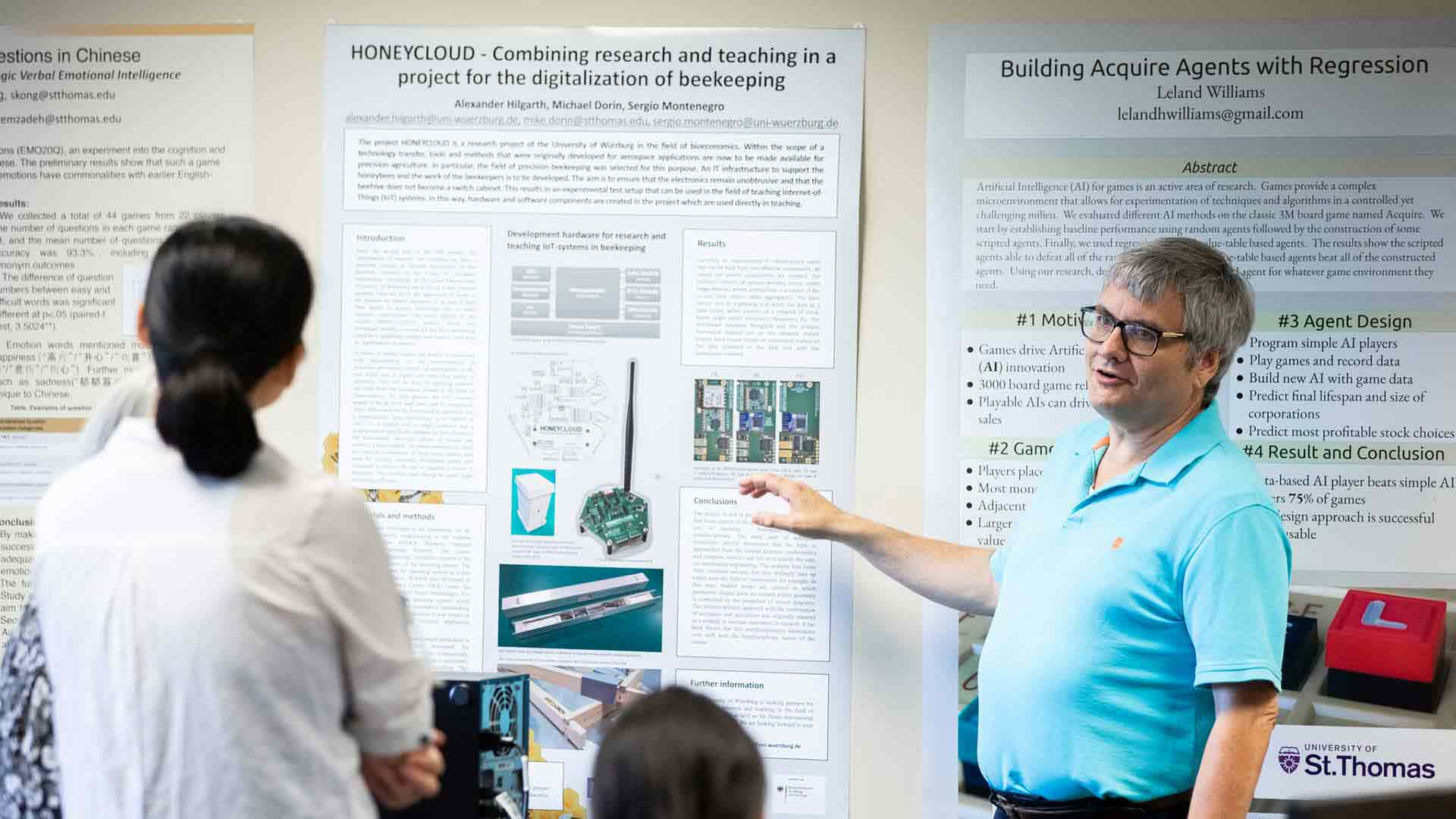 Graduate students in the software programs of the School of Engineering present their summer research to one another.