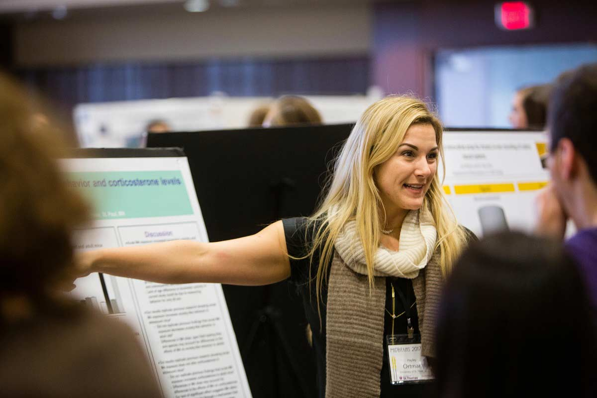 Students present their project during the Midbrains poster presentations