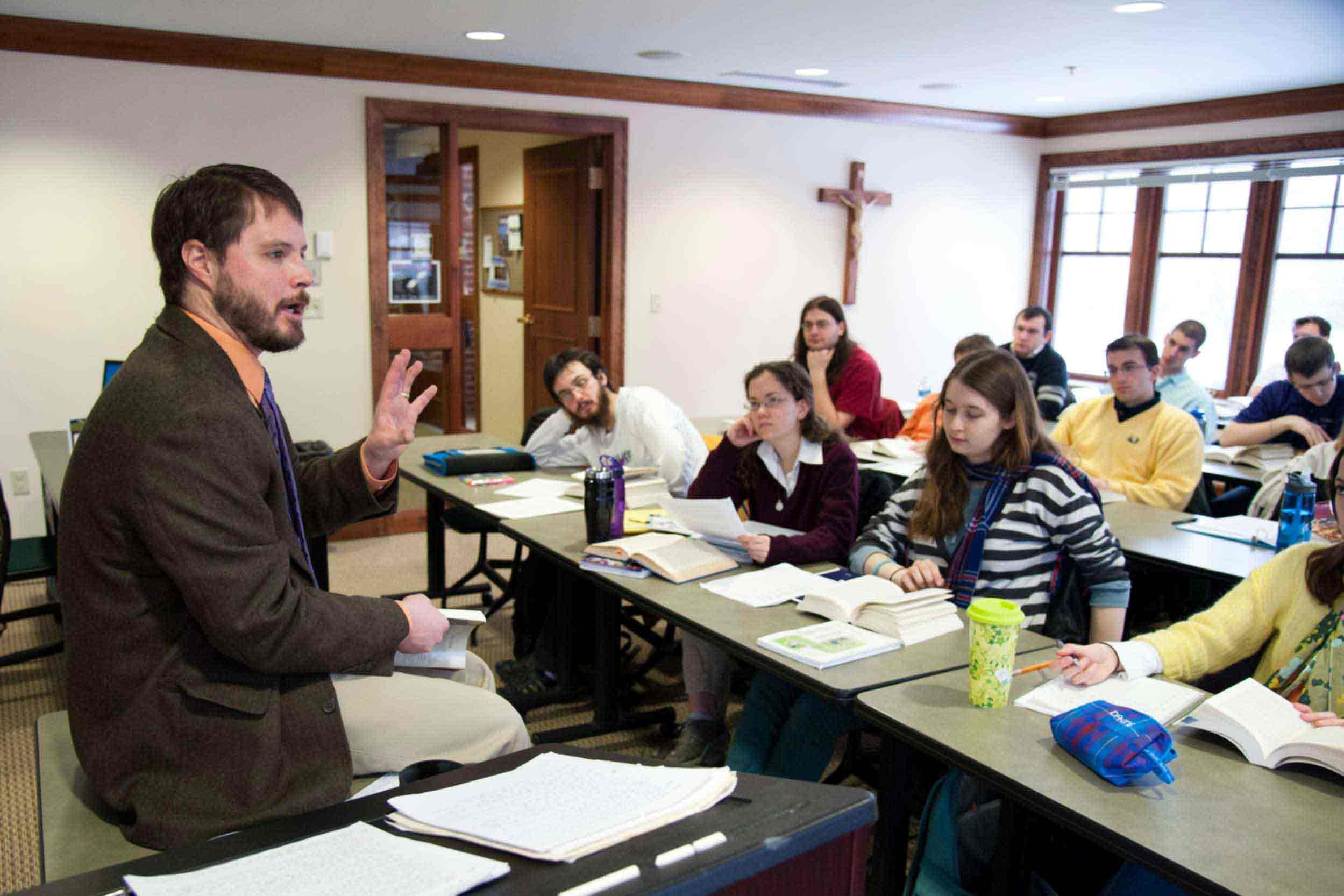 Associate professor of Philosophy, teaches a Catholic Vision course