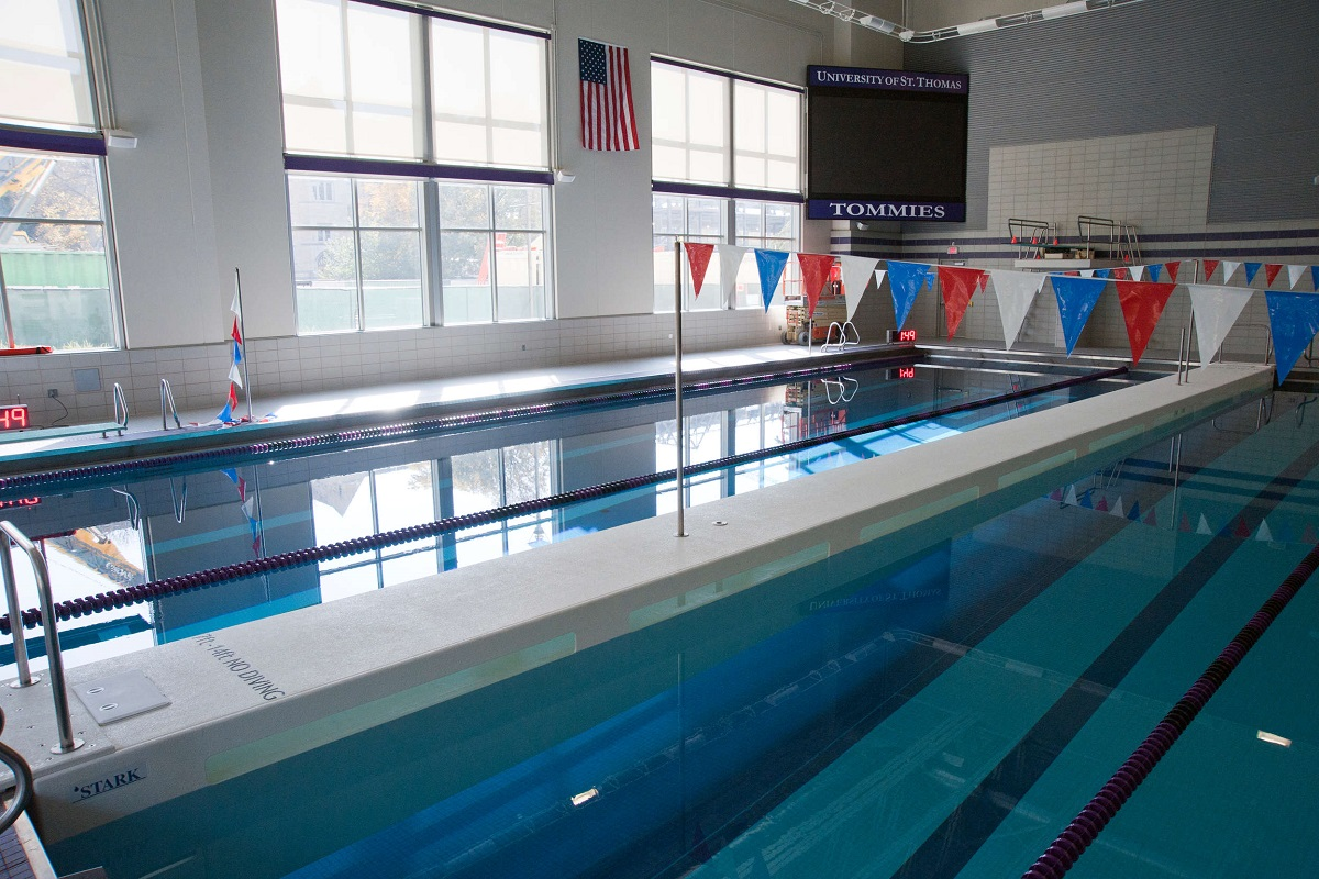 A view of the aquatic center.