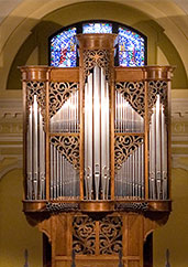 Kney organ from chapel of St. Thomas Aquinas