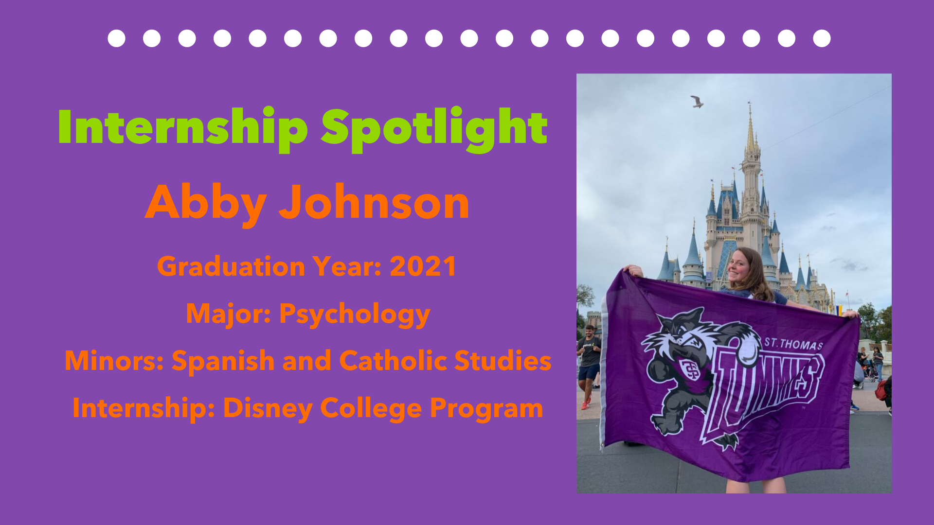Internship Spotlight - abby johnson