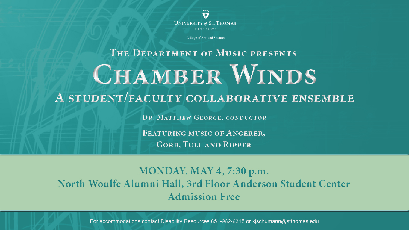 Digital poster advertising May 2015 Chamber Winds concert