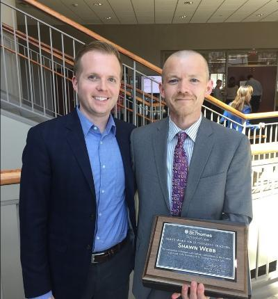 Shawn Webb recognized with the Dean's Award for Outstanding Teaching.