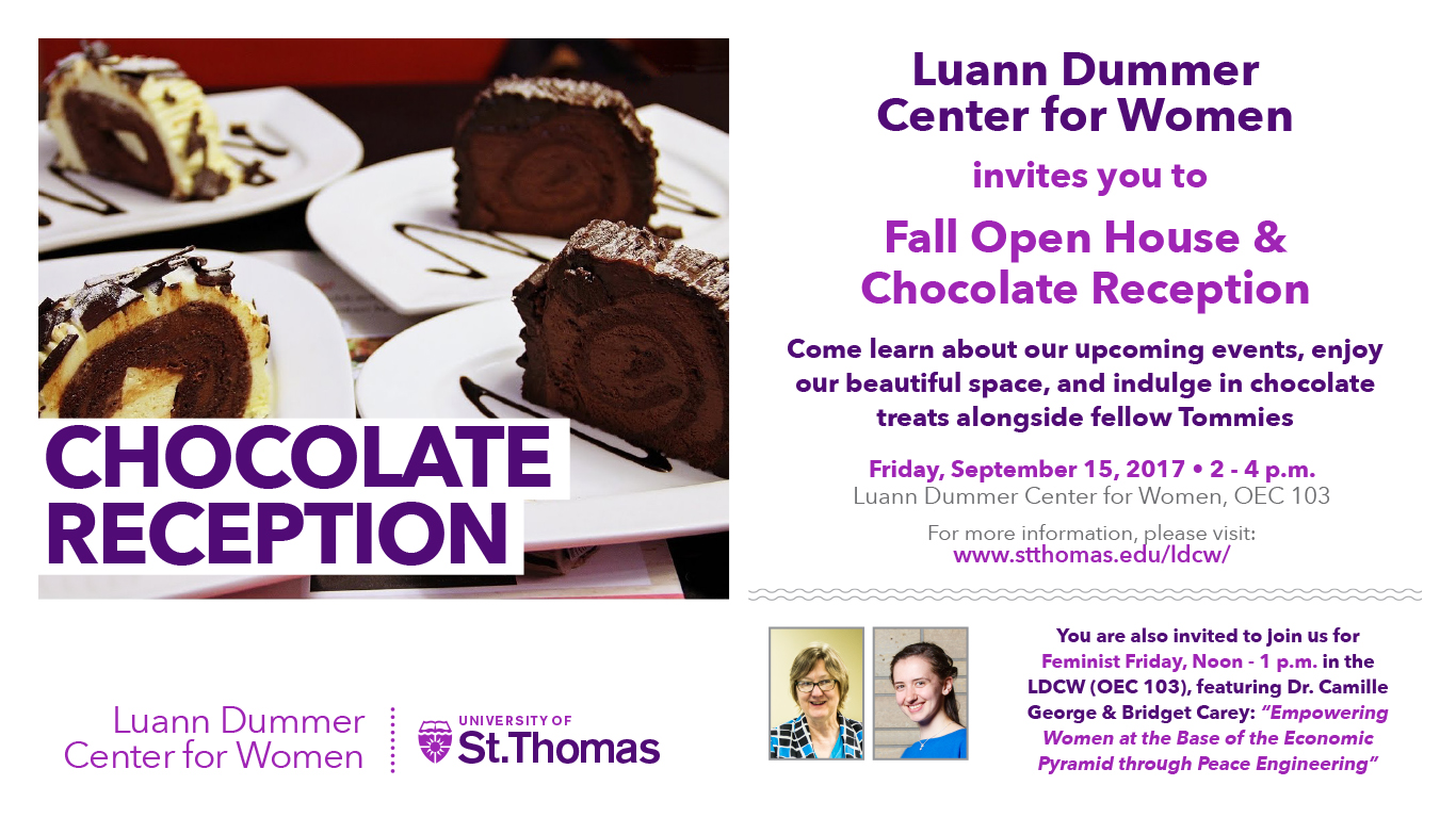 2017 Fall Open House & Chocolate Reception