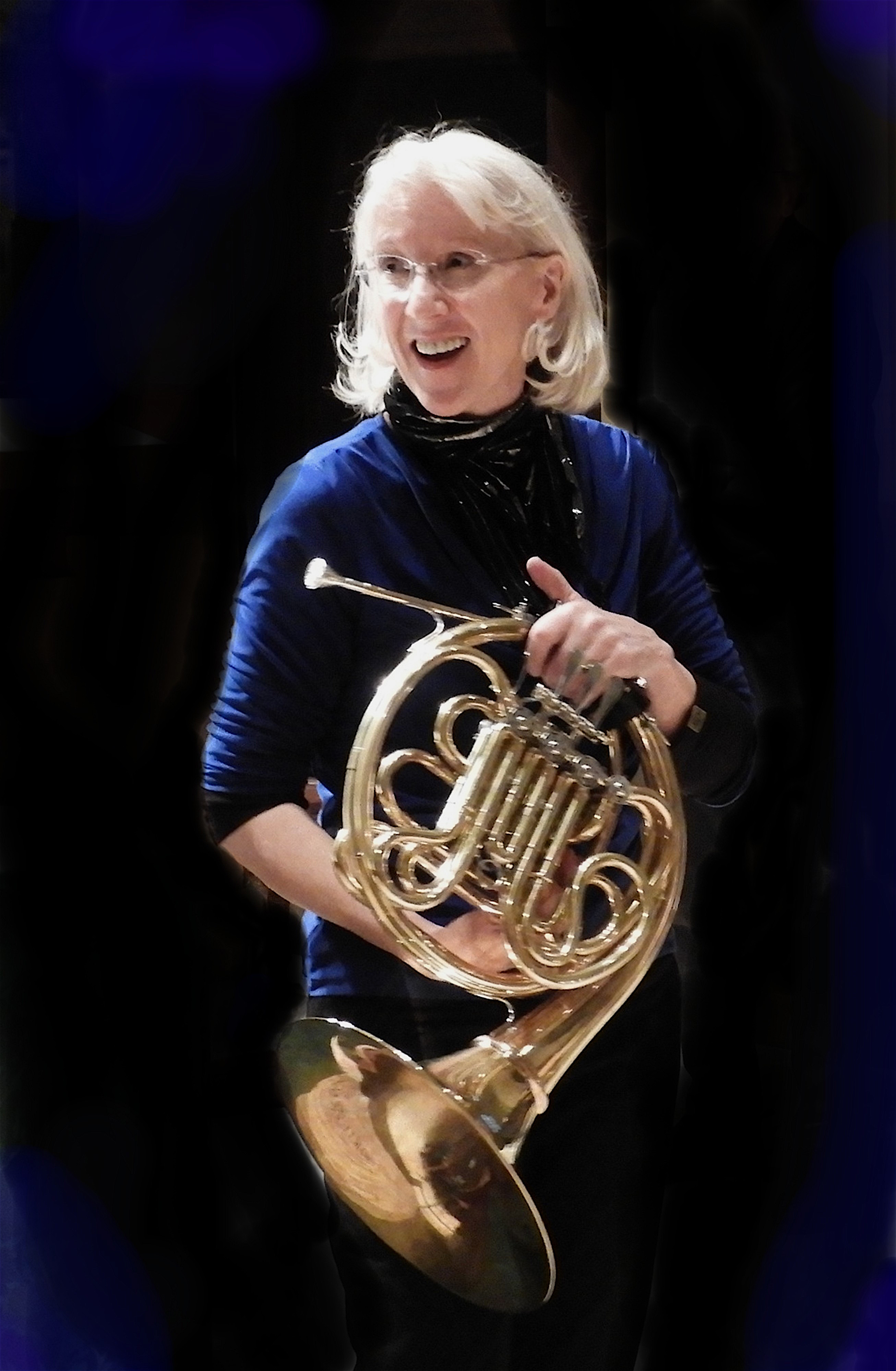 Sarah Schmalenberger with horn