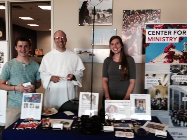 Center for Ministry Stand at An Orientation Fair