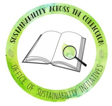 Sustainability across the curriculum with the Office of Sustainability Initiatives logo