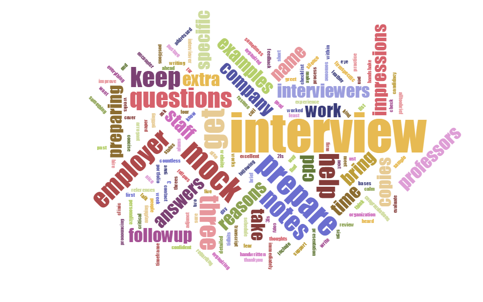 Interview Word Cloud