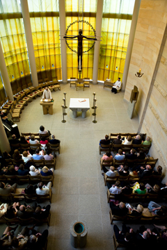 The University of St. Thomas School of Law Chapel celebrates Mass.