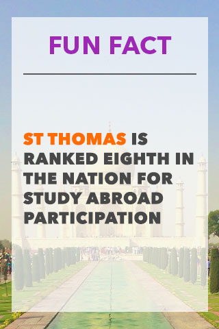 Fun Fact Coupon - ST Thomas is Ranked Eighth In The Nation For Study Abroad Program