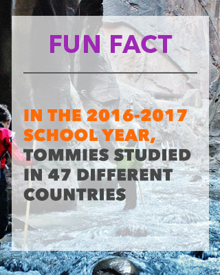 Fun Fact- In The 2016-2017 School Year, Tommies Studied in 47 Different Countries