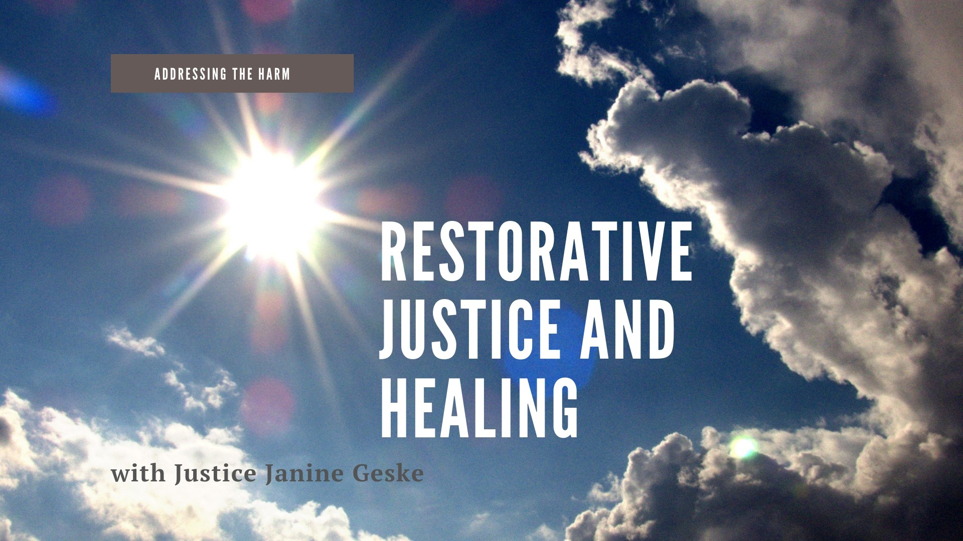 Restorative Justice and Healing promo