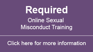 Click here for more information on the required sexual misconduct training
